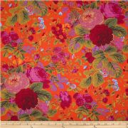 Kaffe Fassett Summer Bouquet Red - Per Quarter Metre